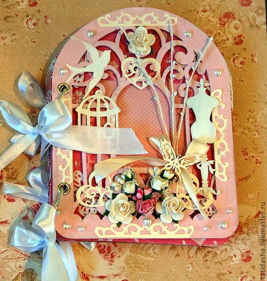 """Фотоальбомы ручной работы. Ярмарка Мастеров - ручная работа. Купить """"Розовое настроение"""". Handmade. Альбом для фото, подарок на любой случай"""