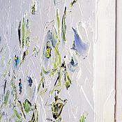 Большая светлая картина 230х120 см масло холст белые цветы пионы розы