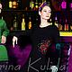 Платья ручной работы. Платье с вышивкой. Katerina Kulida. Интернет-магазин Ярмарка Мастеров. Черное платье, повседневное платье