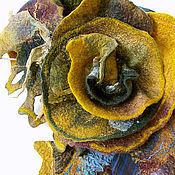 Аксессуары ручной работы. Ярмарка Мастеров - ручная работа Шарфик валяный Заколдованный лес. Handmade.