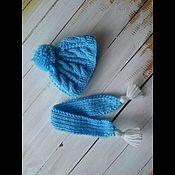 Куклы и игрушки ручной работы. Ярмарка Мастеров - ручная работа вязаная шапочка и шарфик. Handmade.