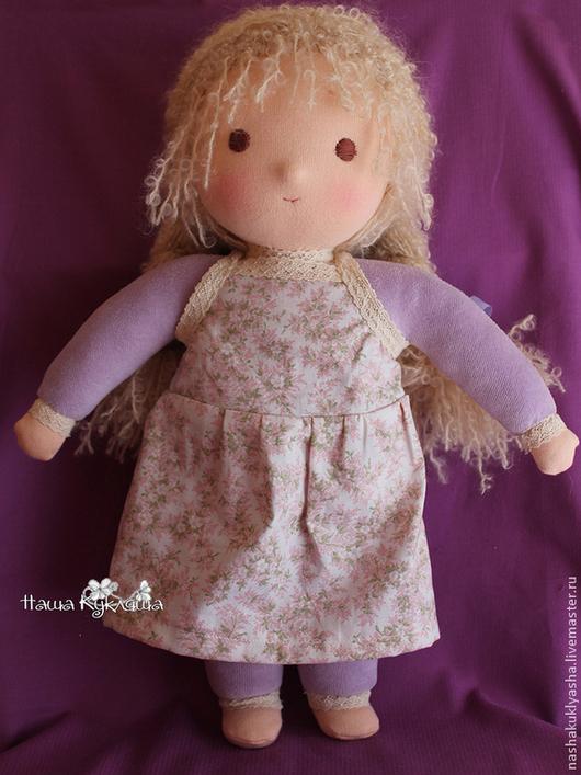 Вальдорфская игрушка ручной работы. Ярмарка Мастеров - ручная работа. Купить Вальдорфская кукла Юля. Handmade. Сиреневый, вальдорфская кукла