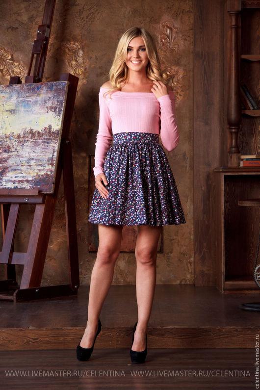 Короткая летняя юбка, юбка на лето, цветочная юбка, короткая темно синяя юбка, женская юбка лето 2016, юбка из хлопка, красивая юбка, модная юбка с принтом, повседневная летняя юбка, юбка на лето