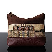 Classic Bag handmade. Livemaster - original item Chambord, large suede purse, brown, beige. Handmade.