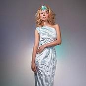 Одежда ручной работы. Ярмарка Мастеров - ручная работа Голубое платье. Handmade.