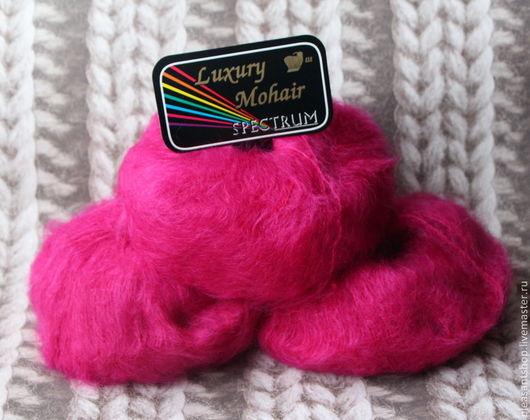 Вязание ручной работы. Ярмарка Мастеров - ручная работа. Купить Luxury Mohair Bright Pink. Handmade. Фуксия