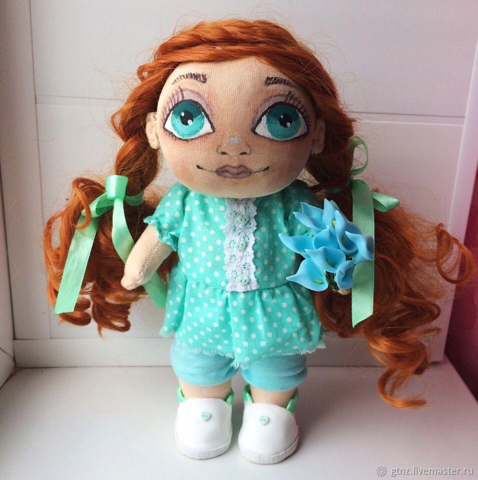 Коллекционная текстильная кукла.