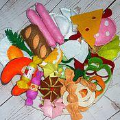 Кукольная еда ручной работы. Ярмарка Мастеров - ручная работа Еда из фетра для кукол. Handmade.