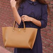 Сумки и аксессуары handmade. Livemaster - original item Women`s leather bag mustard-sand. Handmade.
