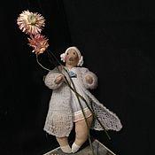 """Куклы и игрушки ручной работы. Ярмарка Мастеров - ручная работа Кукла """"Толстушка в голубом"""" текстильная тильда. Handmade."""
