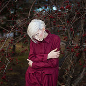 "Одежда handmade. Livemaster - original item Dress shirt ""When the berries fall on the snow."". Handmade."