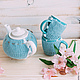 грелка, грелка вязаная, грелка для чайника, грелка на чайник, заварочный чайник, заварник, чай, чаепитие, кухня, уютная кухня, свитерок на чайник, кофточка на чайник, коллекционный чайник