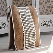 Классическая сумка ручной работы. Ярмарка Мастеров - ручная работа Эко-сумка из джута (400) с плетением_Fisenko brand. Handmade.