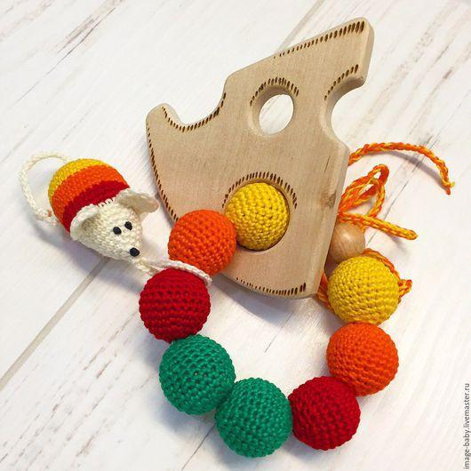 """Развивающие игрушки ручной работы. Ярмарка Мастеров - ручная работа. Купить Деревянный грызунок """"Кусочек сыра"""". Handmade. Комбинированный, разноцветный"""