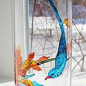 Вазы ручной работы. Ярмарка Мастеров - ручная работа Ваза Голубая птица. Handmade.