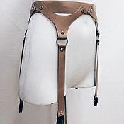 Аксессуары handmade. Livemaster - original item Belt: Leather belt for stockings. Handmade.