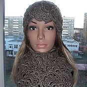 Аксессуары handmade. Livemaster - original item Cap and scarf made of half wool Ariadne. Handmade.