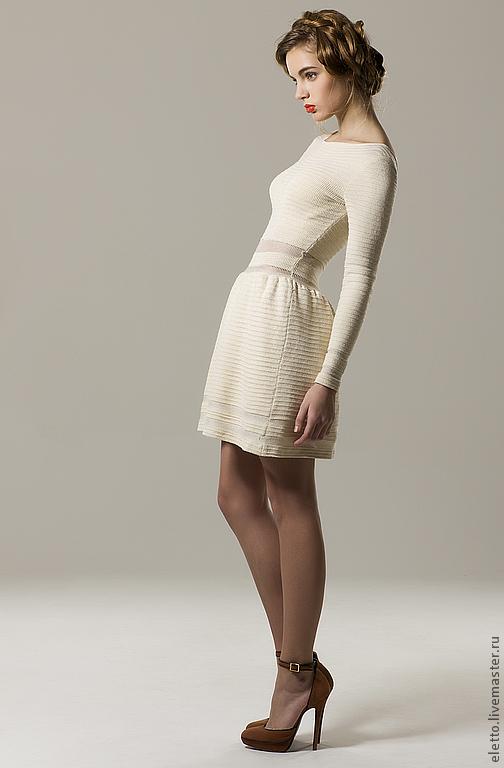Платья ручной работы. Ярмарка Мастеров - ручная работа. Купить Трикотажное платье Eletto. Handmade. Бледно-сиреневый, платье коктейльное