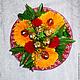Оригинальный букет из конфет на любой праздник. Цветы в наличии синие, оранжевые и фуксия. Возможно сделать вставочку с любой надписью.