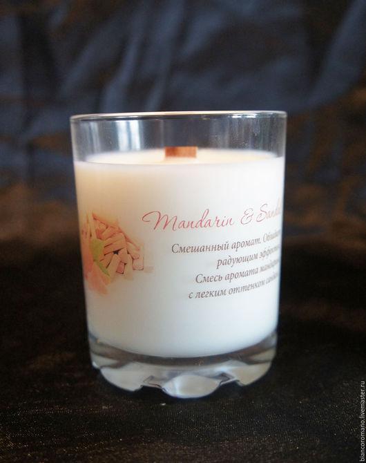 Соевая арома свеча Mandarin & Sandalwood `Bianco Romano`