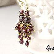 Украшения handmade. Livemaster - original item Garnet earrings. Handmade.