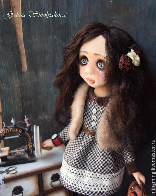 Коллекционные куклы ручной работы. Ярмарка Мастеров - ручная работа. Купить Все впереди.... Handmade. Девочка, хлопок 100%