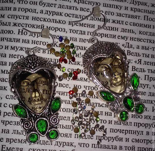 Серьги ручной работы. Ярмарка Мастеров - ручная работа. Купить Богиня весны. Handmade. Зеленый, серьги, кварц, камни, кварц