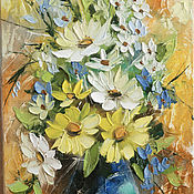 Картины и панно ручной работы. Ярмарка Мастеров - ручная работа цветочки. Handmade.