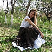 Skirts handmade. Livemaster - original item Long boho chic skirt,