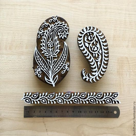 Другие виды рукоделия ручной работы. Ярмарка Мастеров - ручная работа. Купить Штампы для печати на ткани PAISLEY. Handmade. Коричневый