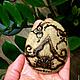 Роспись по камню ручной работы. Ярмарка Мастеров - ручная работа. Купить Каменный цветок. Handmade. Серый, мехенди, роспись по камню