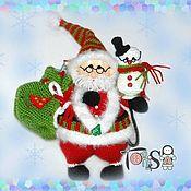 Куклы и игрушки handmade. Livemaster - original item Santa and snowman. Handmade.