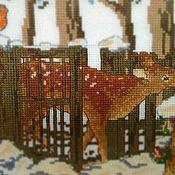 """Картины и панно ручной работы. Ярмарка Мастеров - ручная работа Вышивка крестом """"Добро пожаловать в Зимнюю сказку"""". Handmade."""