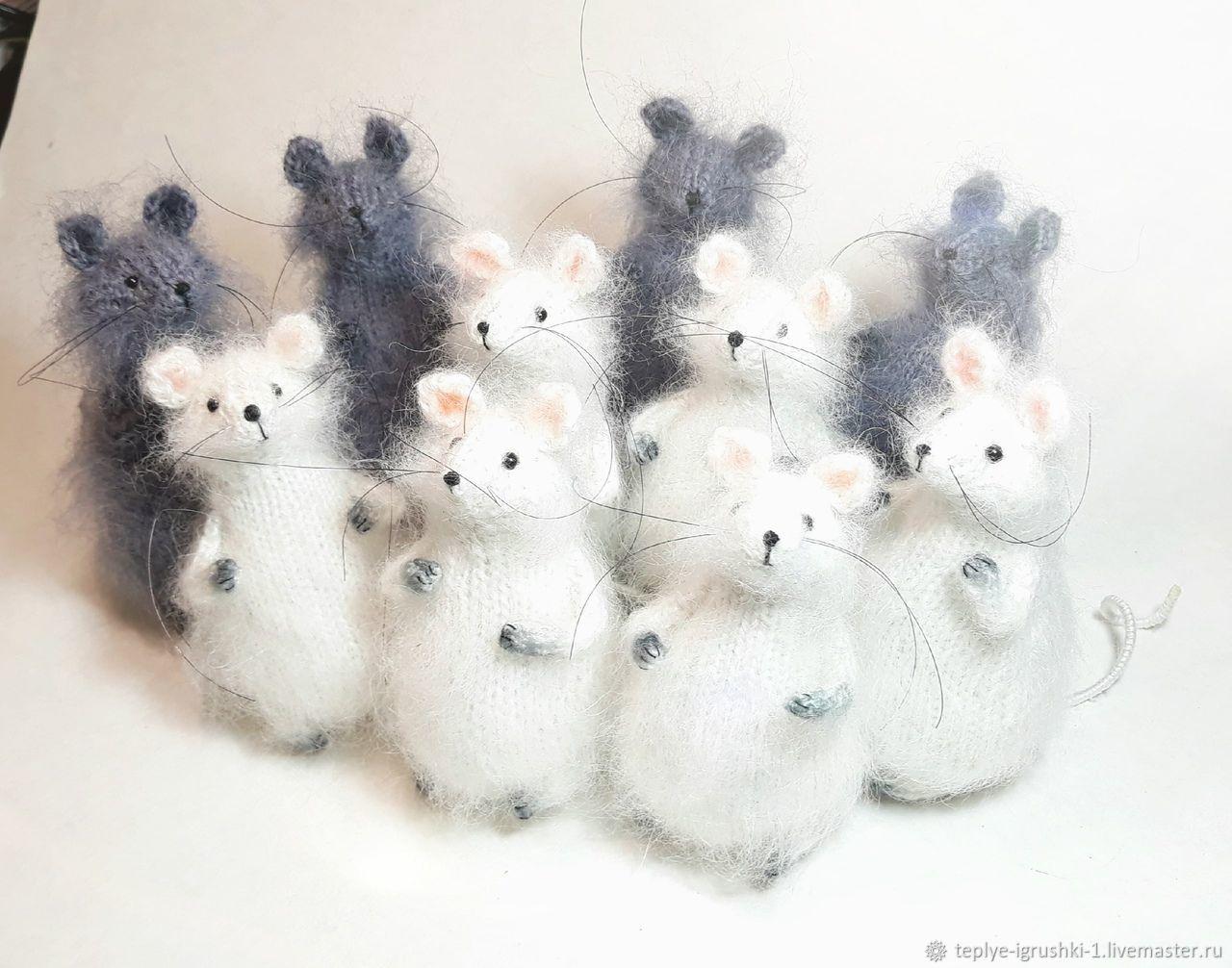 Мышь. Вязаная игрушка, Мягкие игрушки, Нижний Тагил,  Фото №1