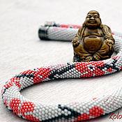 Украшения handmade. Livemaster - original item Harness beaded Meditation Sakura necklace decoration. Handmade.
