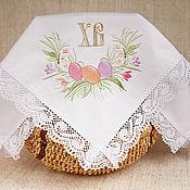 Подарки к праздникам ручной работы. Ярмарка Мастеров - ручная работа Кружевная салфетка Пасхальный букет. Handmade.
