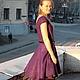 Платья ручной работы. Валяное платье Самоцветы. FeltOx ( Оксана Ткаченко). Ярмарка Мастеров. Фиолетовый, шерсть меринос