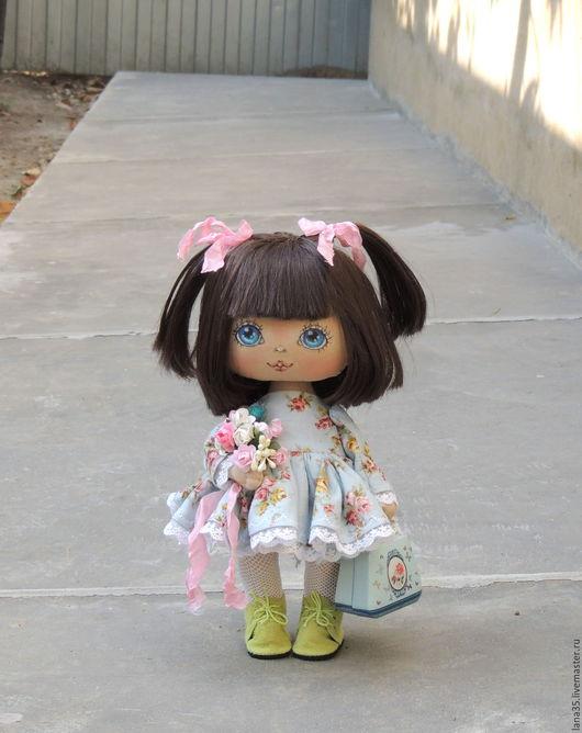 Коллекционные куклы ручной работы. Ярмарка Мастеров - ручная работа. Купить Малышка. Handmade. Голубой, подарок на любой случай