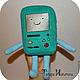 Сказочные персонажи ручной работы. Ярмарка Мастеров - ручная работа. Купить Время приключений. Adventure Time BMO. Handmade.