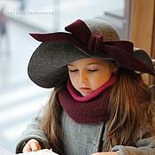 """Аксессуары ручной работы. Ярмарка Мастеров - ручная работа Детская широкополая шляпа """"J`aime lire"""" (Люблю читать). Handmade."""