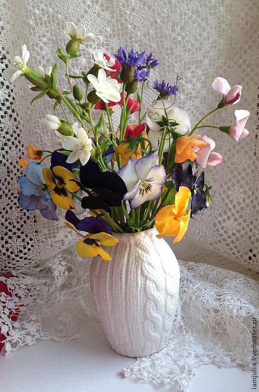 Интерьерные композиции ручной работы. Ярмарка Мастеров - ручная работа. Купить Цветы из полимерной глины Солнечный букет. Handmade.