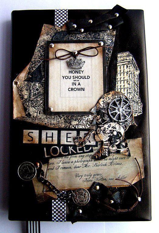 Подарки для мужчин, ручной работы. Ярмарка Мастеров - ручная работа. Купить Ежедневник Шерлок Холмс. Handmade. Коричневый