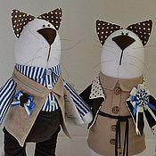 Куклы и игрушки ручной работы. Ярмарка Мастеров - ручная работа Пара котиков №1.. Handmade.