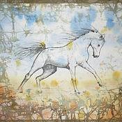 """Картины и панно ручной работы. Ярмарка Мастеров - ручная работа Батик панно """"Ветер"""". Handmade."""