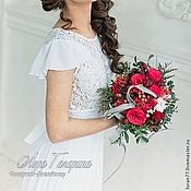 Цветы и флористика ручной работы. Ярмарка Мастеров - ручная работа Зимний букет невесты. Handmade.