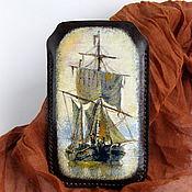 Чехол ручной работы. Ярмарка Мастеров - ручная работа Кожаный чехол для телефона. Handmade.