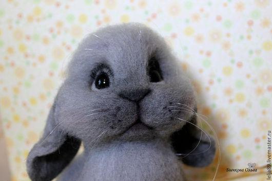"""Игрушки животные, ручной работы. Ярмарка Мастеров - ручная работа. Купить Кролик """"Сеня"""". Handmade. Кролик, Сухое валяние"""