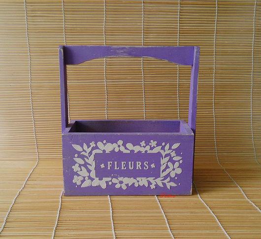 Материалы для флористики ручной работы. Ярмарка Мастеров - ручная работа. Купить Ящик для цветов Х42. Handmade. Ящик для цветов