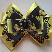 Работы для детей, handmade. Livemaster - original item Yellow-and-black bows with pokemon. Handmade.