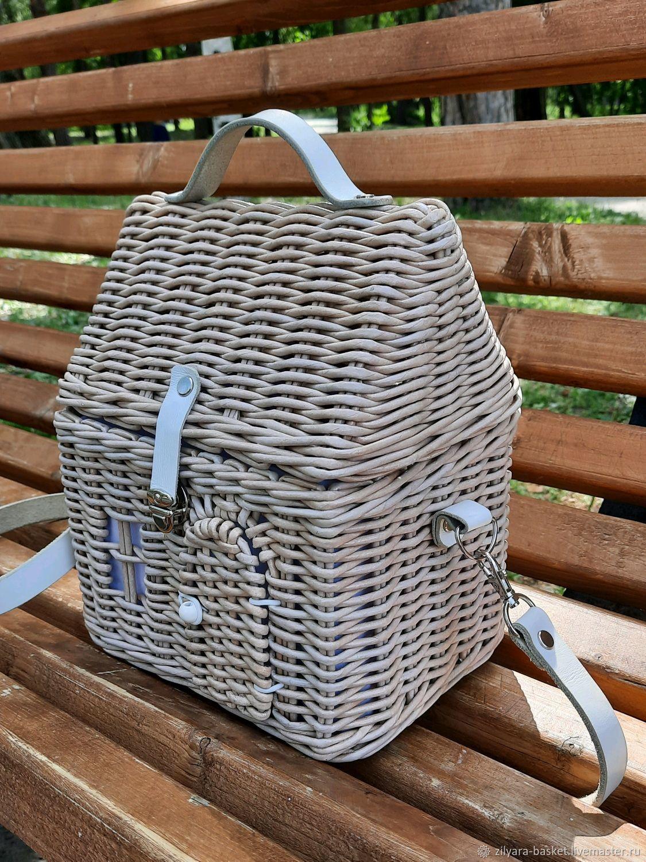 Сумка-домик, плетеная женская сумка, Саквояж, Екатеринбург,  Фото №1